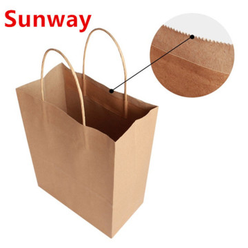 Natural kraft shopping paper bags