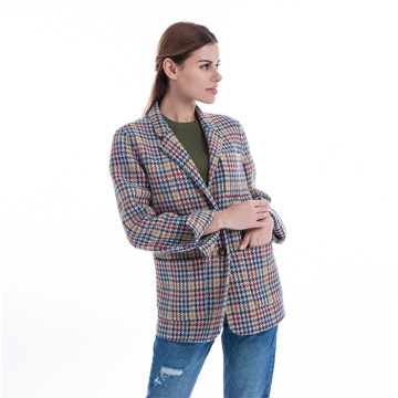 New styles colored checked suit jacket