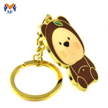 Maker Custom Gift Gold Metal Bear Keychain