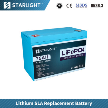 12V75AH LiFePO4 Battery Replace Lead Acid Battery