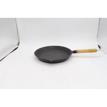 Waxed Fry Pan With Wooden Handle for cooking