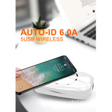 5 USB AUTO-ID Wireless Desk Charger