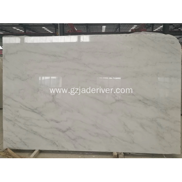 Polished Pure White Marble Slab Floor Tile