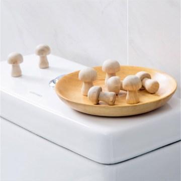 10pcs/pack Mushroom Shaped Wardrobe Camphor Wood Mothballs Mosquito Repellent Clothing Mothballs