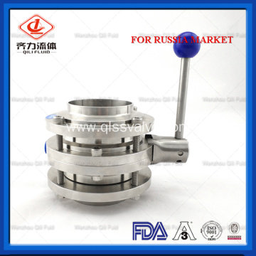 Stainless Steel Food Grade Three Piece Butterfly Valve
