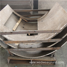 Hopper Steel wear-resistant cladding