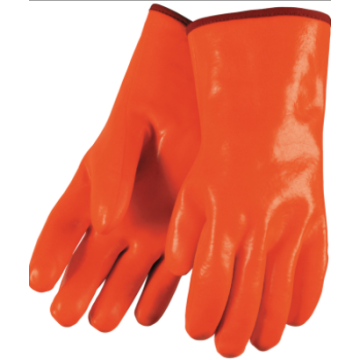 "Fluorescent Orange PVC Dipped 12"" Gloves"