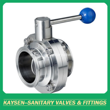 Sanitary DIN Threaded Butterfly valve
