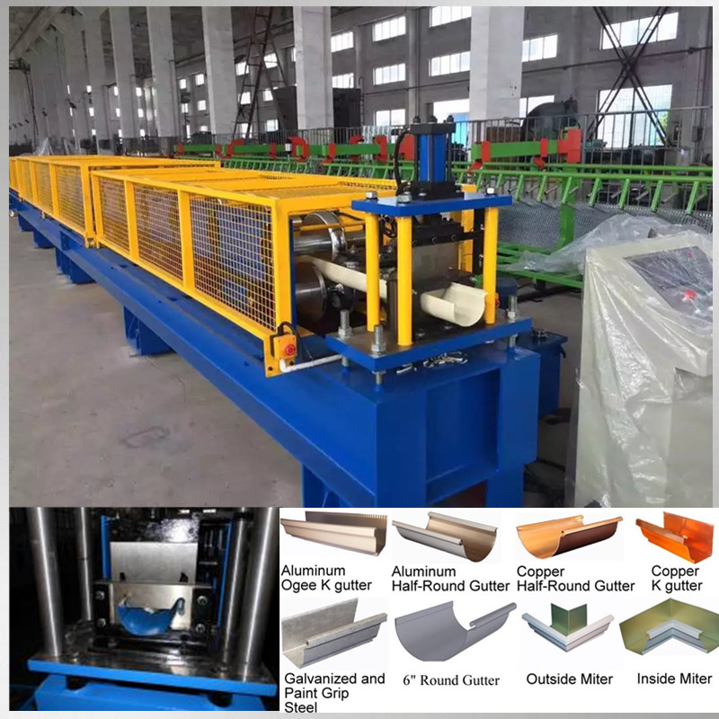 roof gutter roll forming machine