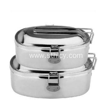 Eco-Friendly Double Layer Stainless Steel Lunch Box