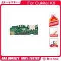 BingYeNing New Original usb plug charge board For Oukitel K6 Mobile Phone Flex Cables charging module cell phone Mini USB Port