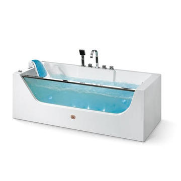 Acrylic & Glass Single Indoor Bathtub