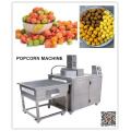 Chocolate popcorn machine with electromagnetic heating