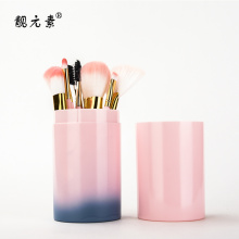 12 PCS Makeup Brushes With Plastic Barrel