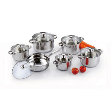 12 Pieces Stainless Steel Pots and Pans Set