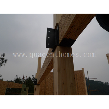 Prefab House with Glulam Posts and Beams