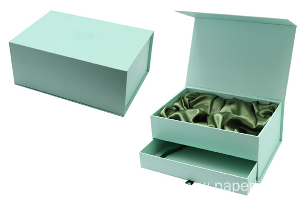 Premium Cardboard Magnetic Closure Box With Drawer