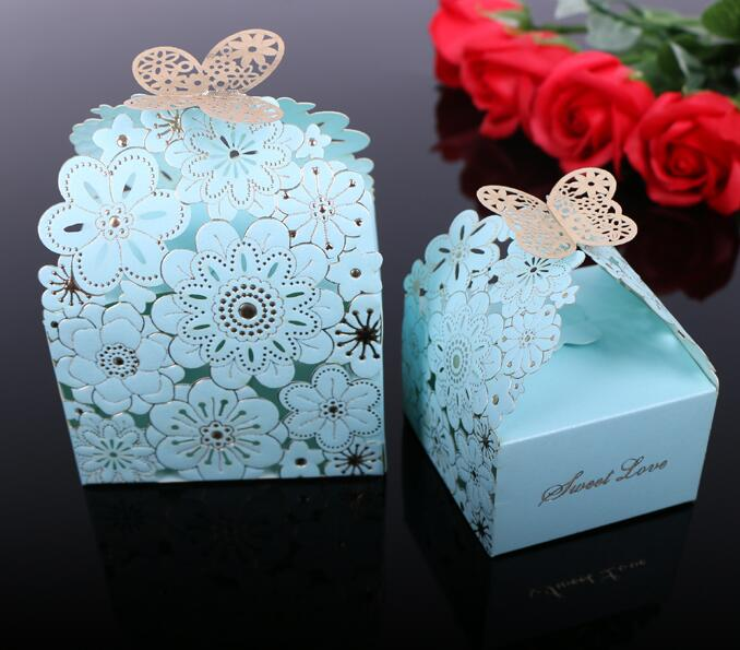 Laser Cut Paper Wedding Candy Box