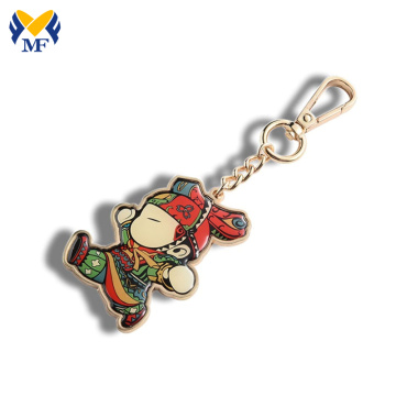 Souvenir innovative print metal keychain