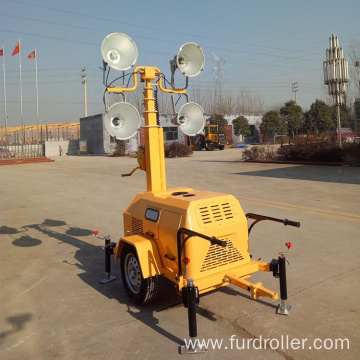 7m telescopic Hydraulic mast trailer light tower for construction FZMTC-1000B