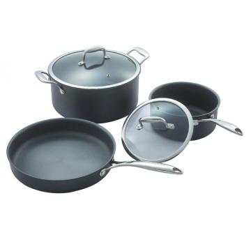 Hard anodizing aluminum pot set