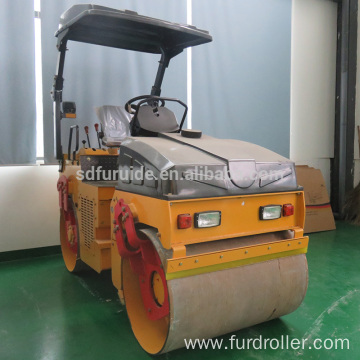 3 Ton Double Drum Vibratory Mini Road Roller Compactor (FYL-1090)
