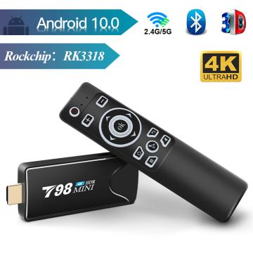 TV stick TV box Android 10 2GB 16GB 2.4/5G WIFI android TV BOX Bluetooth RK3318 Quad-Core smart tv box play store TV Stick 4k