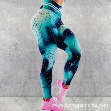 High Waist Printing Spandex Custom Yoga Pants Leggings