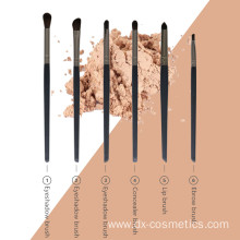6 Pieces Eye Makeup Cosmetics Brush Set Kit