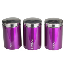 Coffee Canister Set of 3PCSwith MirrorPolishing Lid