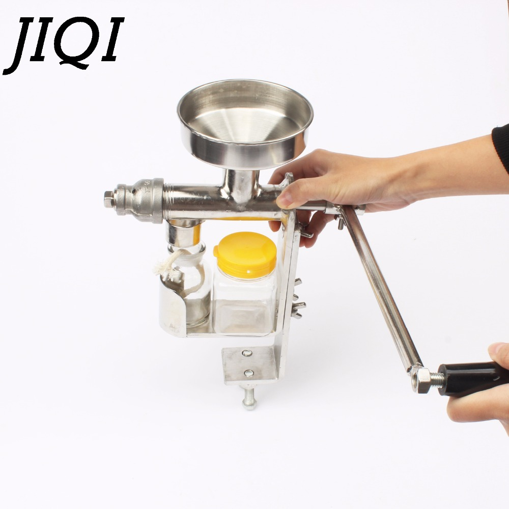 Manual Oil Hot Press Machine Hand Heat Squeeze Oil Presser Expeller Extractor Peanut Nuts Seeds Oil Extraction Maker Squeezer