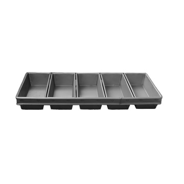 5 Slotted Glazed Aluminum Loaf Pan