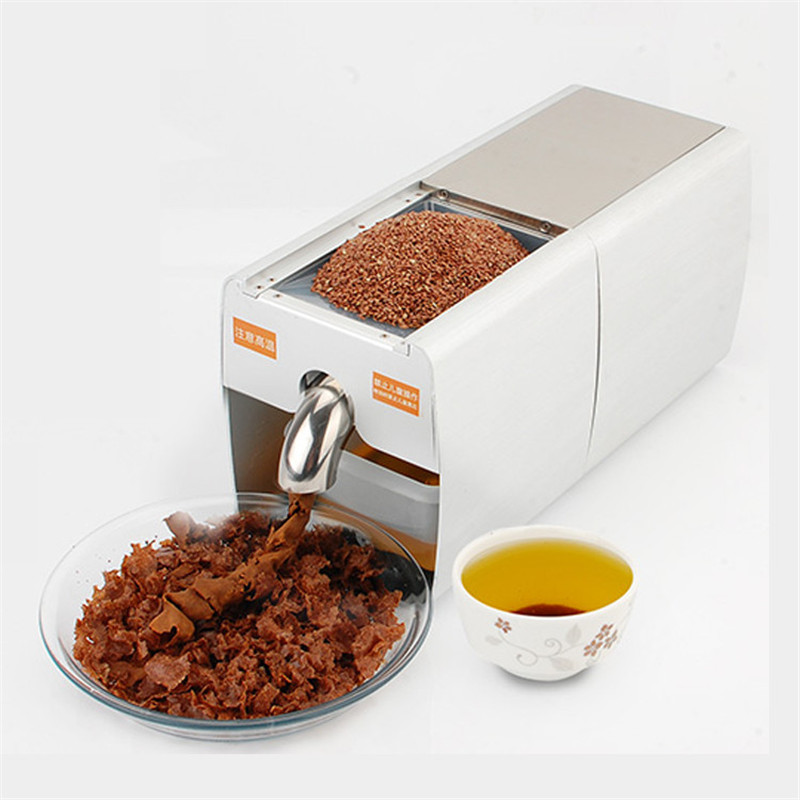 JamieLin automatic Castor bean oil extractor soybean peanut oil maker small commercial oil press machine for walnut kernel