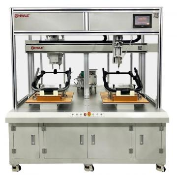 Independent Dual Head Dual Rail Robotic Locking Machine