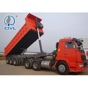 3 axles side dumper trailer