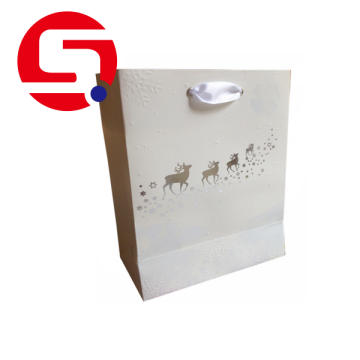 Wholesale white gift paper bags cheap