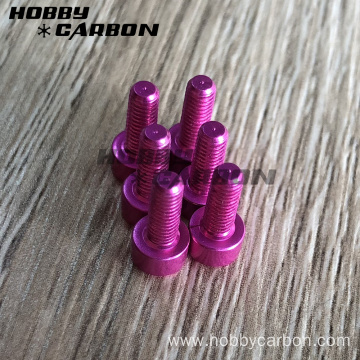 Hex cap head aluminum screw with colors