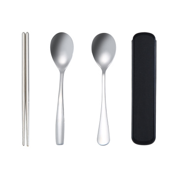 Portable Travel Cutlery Set With Plastic Box
