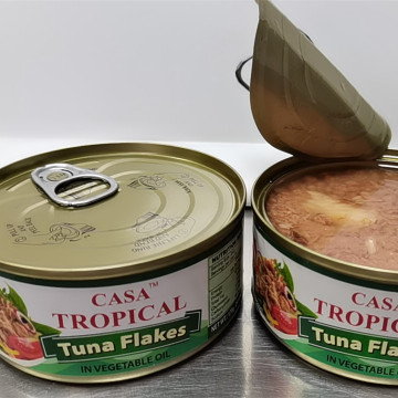 Tropical Canned Tuna Flakes In Vegetable Oil