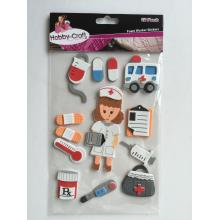 foam sticker sheet -nurse