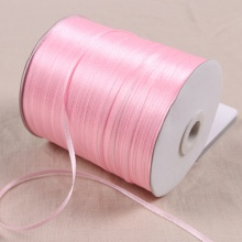 """1/8"""" 3mm Satin Ribbon for packing and bow & Garment Accessories 20y/lot 04 Pink"""