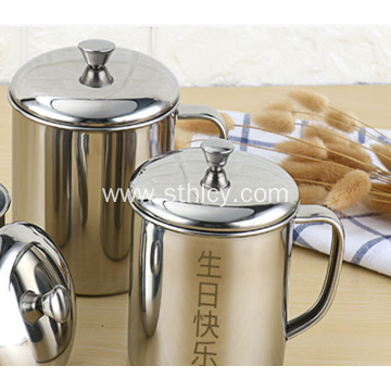 304 High Quality Stainless Steel Cup With Lid
