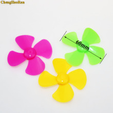 CHengHaoRan Yellow Red Blue four pages Fan leaf propeller 60mm in diameter Inner hole 1.95mm Toy Accessories Model part