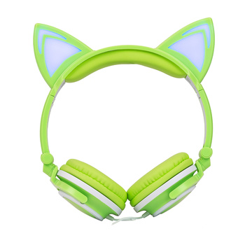 Glowing cat cuffie bambini Macoron Color cuffie