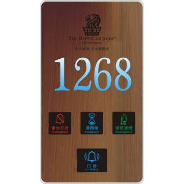 Light hotel room numbers doorplate