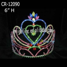 Colored rhinestone pageant crowns for sale