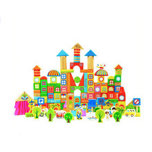 Wooden Educational Colorful 190 Pcs Building Block Set