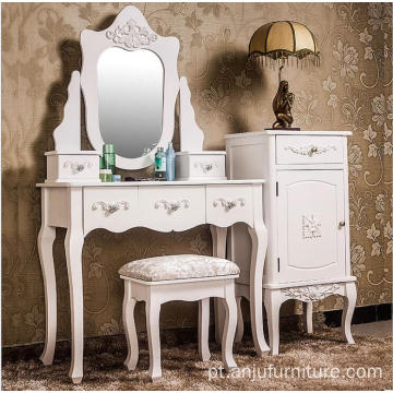 French style dresser european wooden dressing table