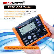 PM5910 Digital resistance meter RCD loop tester circuit switch tester Trip-out Current/Time Test RL Meter with USB Interface