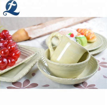 Restaurant stoneware breakfast dinnerware custom ceramic tableware